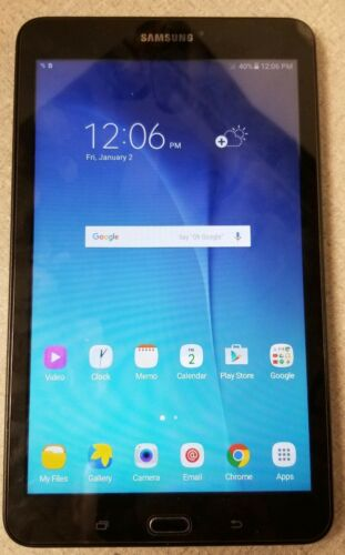 Samsung Galaxy Tab E SM-T377V 16GB, Wi-Fi, 4G LTE VERIZON, USED