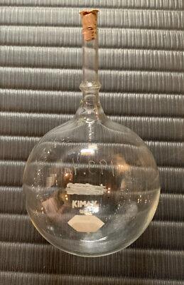Kimax Round Bottom Flask Taper Neck Chemistry Glass Equipment 37 Pieces