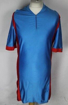 Race Fit Mens Cycling Jersey Brescia Short Sleeve Full Zipper Blue//White//Black