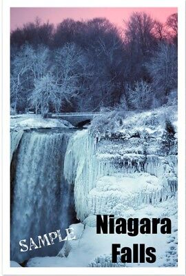 Niagara Falls Frozen   Travel   Souvenir   2 X3  Flexible Fridge Magnet