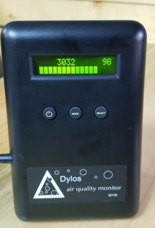 Dylos DC1100 Pro Laser Particle Counter Air Quality Monitor + Power Supply