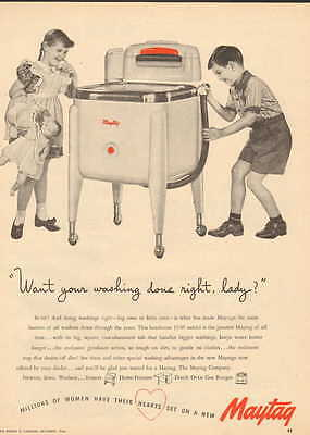 1946 Maytag Washer home appliance ad With ringer--/825