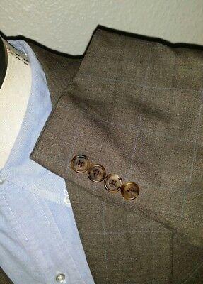 Hickey Freeman Kariert Loro Piana 120 Wolle Sport Mantel Blazer Anzug Jacke 40R ()