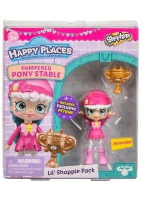 SPRING 2018 Shopkins NEW SERIES Happy Places Jessicake LIL SHOPPIE PAMPERED PONY
