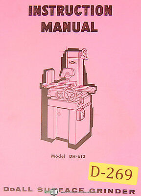 Doall Dh612 Surface Grinder 57 Page Instructions Manual 1970