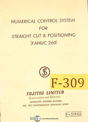 Fujitsu Cnc Control Straight Cut Positioning Fanuc 260 Programming Manual 1966