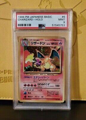 1996 Pokémon Charizard Japanese Base Set PSA 9 MINT #6 Basic Holo REGRADE 10?