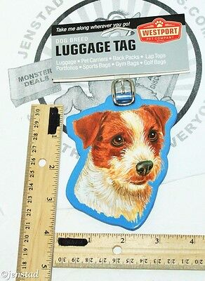 JACK RUSSELL TERRIER PET CO DOG BREED ID TAG FOR LUGGAGE CARRIER GYM BAG ETC NEW for sale  Shipping to Canada