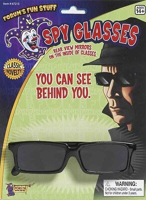 SPY GLASSES - REAR VIEW MIRRORS ON THE INSIDE OF GLASSES FUN COSTUME ACCESSORY
