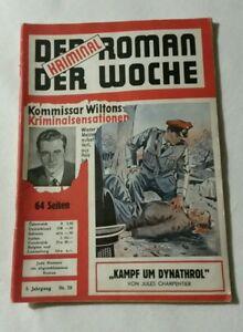 KRIMINAL ROMAN DER WOCHE Nr.28, Kampf um Dynathrol Art.Nr.531
