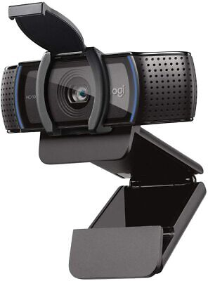 Logitech C920S HD Pro Webcam w/ Privacy Shutter, 1080p Streaming + Video Calling