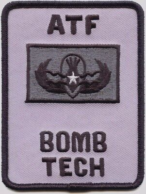 ATF BOMB TECH WASHINGTON DC subdued gray POLICE PATCH