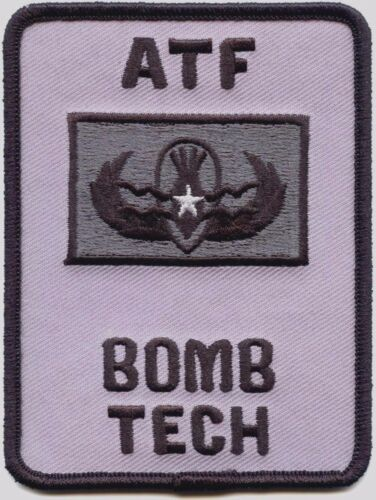 ATF BOMB TECH WASHINGTON DC subdued gray POLICE PATCH