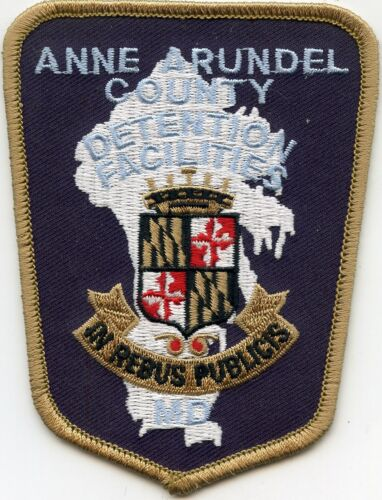 ANNE ARUNDEL COUNTY MARYLAND MD Dark Back DOC CORRECTIONS sheriff police PATCH