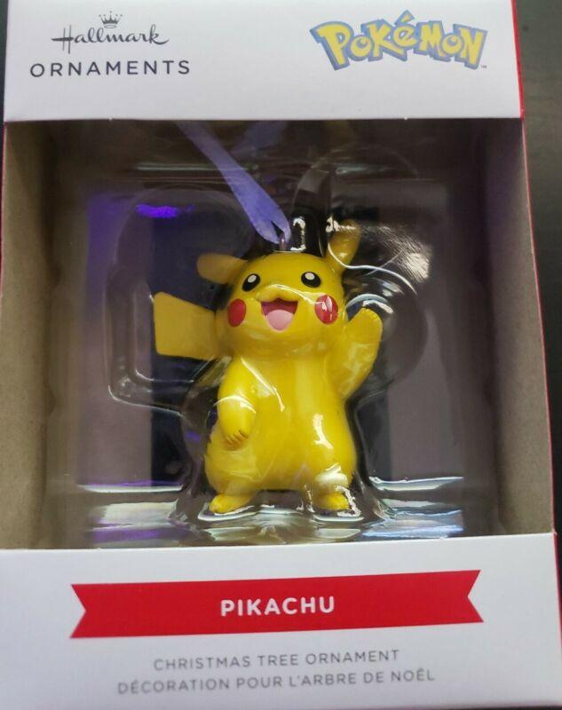NEW 2021 Hallmark PIKACHU Pokemon Hanging Christmas Tree Ornament Resin Plastic