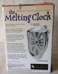 Melting Clock   Analog Quartz   Salvador Dali   Chrome Plated