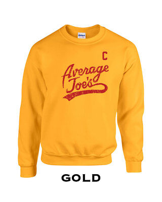 079 Average Joes Crew Sweatshirt funny dodgeball uniform costume halloween new - Average Joe's Halloween