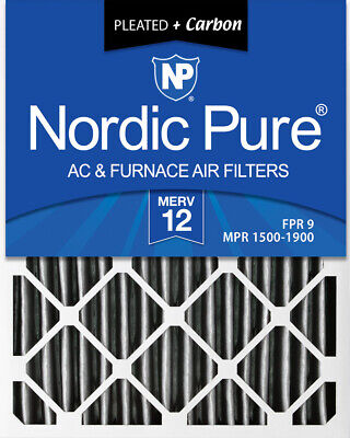 Nordic Pure 20x25x4  Pleated Air Filter MERV 12 Pleated + Ca