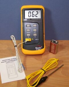 Scientific Digital Thermometer 1 K Type & Thermocouple Temperature Sensor Probe