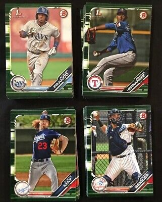 2019 Topps Bowman Baseball Green Camo Parallel Cards BP-# Lot You Pick ()