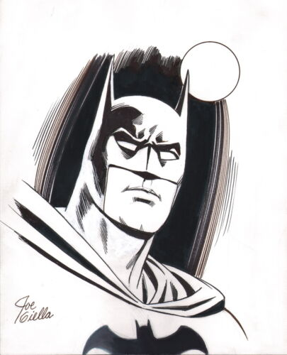 Golden Silver Age Artist Joe Giella Signed Original DC Comic Art Sketch BATMAN