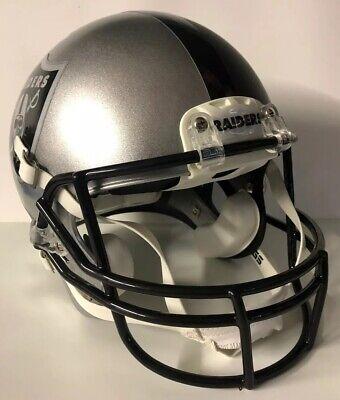 Oakland Raiders Full Size Authentic Rawlings Momentum Custom Football Helmet !! Oakland Raiders Authentic Helmet