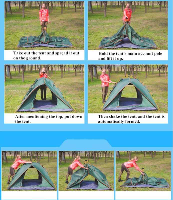 Waterproof 2-3 Camping Pop