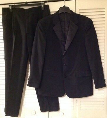 "Black Tuxedo Size 42R 36 Waist, 31.5"" Inseam With a Large 3"" Hem"