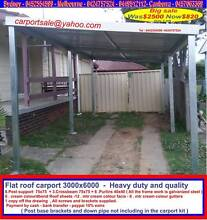 New  flat roof carport  3  x  6   $820  or  3 x  9   $  1250 Thomastown Whittlesea Area Preview