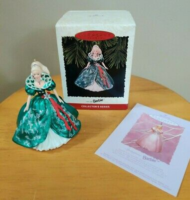 1995 Holiday Barbie Doll Hallmark Ornament 3rd in Series NIB