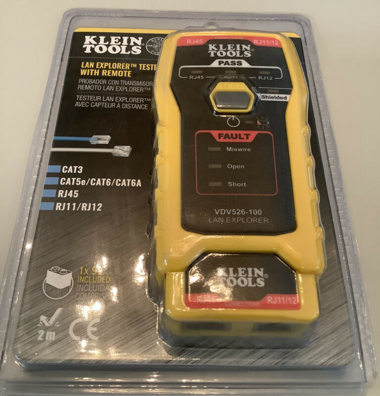 Klein Tools VDV526-100 LAN Explorer Data Cable Tester with Remote NEW IN PACKAGE