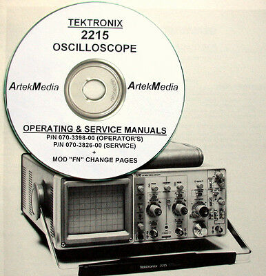 Tek Tektronix 2215 Oscilloscope Operating Service Manuals 2-vol