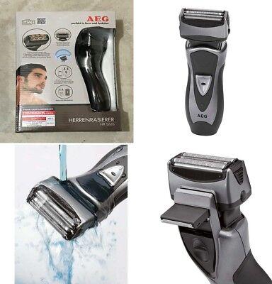 Afeitadora electrica de doble lamina con cabezal de recorte,uso en ducha,bateria