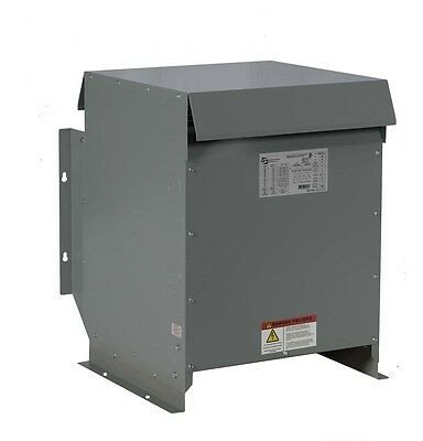 15kva Dry Type Transformer 480 - 208y120 Volt Step Down 3 Phase - New 3r