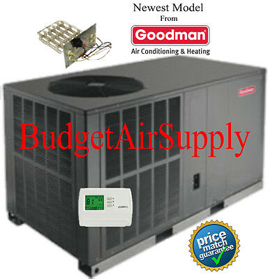 "4 Ton 14 prophetess Goodman HEAT PUMP""All in One""Unit Segment GPH1448H41+Heat+tstat+"