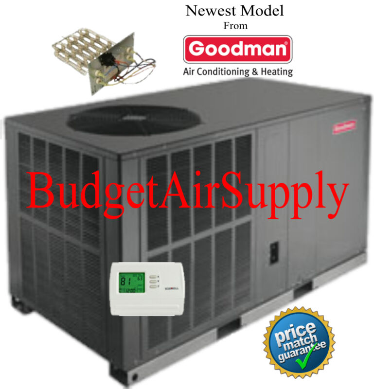 "3.5 Ton 16 Seer Goodman Heat Pump""all In One""package Unit Gph1642h41+heat+tstat+"