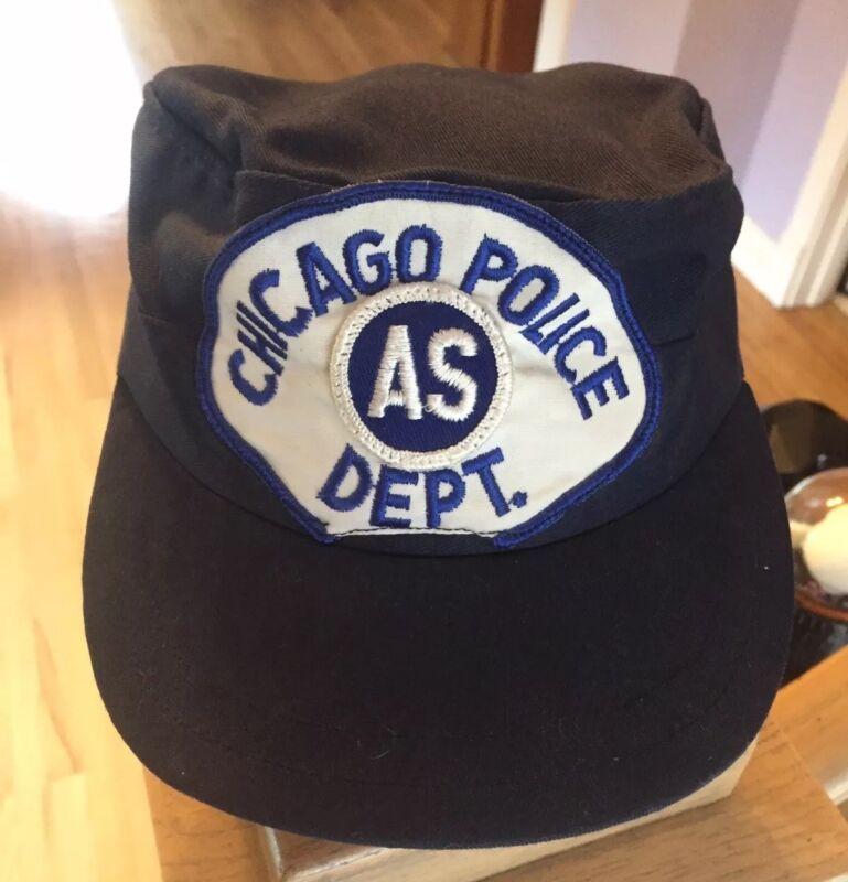 Chicago Police Hat Vintage Unique Blues Brothers Era Hut Hut Rare Chicago CPD