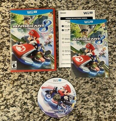 Mario Kart 8 (Nintendo Wii U, 2014) Complete CIB w/ Manual Tested Working GREAT!