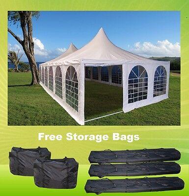 Pagoda PVC Tent 40'x20' - Heavy Duty PVC Wedding Party Tent - White
