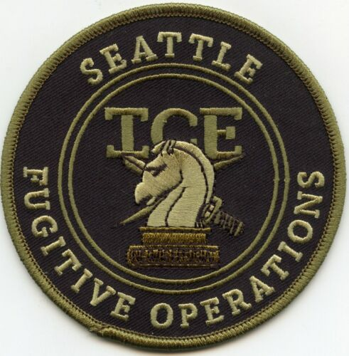 SEATTLE WASHINGTON WA ICE FUGITIVE OPERATIONS subdued green POLICE PATCH