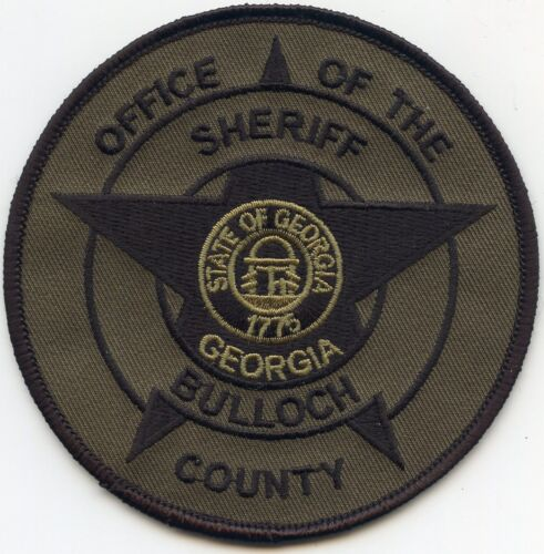 BULLOCH COUNTY GEORGIA GA subdued SHERIFF POLICE PATCH