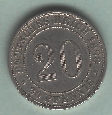 Dt.Reich, 20 Pfennig 1888 A, J.6