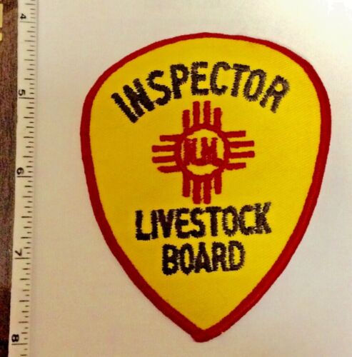 New Mexico Inspector Livestock Board Police Shoulder Patch New Authentic