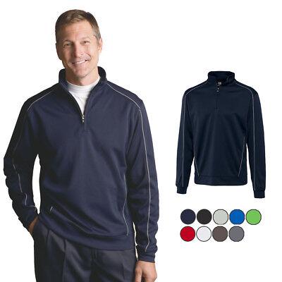 Cutter & Buck Men's CB Drytec Edge Half Zip Sweatshirt | MCK08861 Buck Mens Drytec Edge