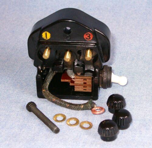 Singer 201 Sewing Machine Power Terminal Receptacle Plug Block & Light Switch