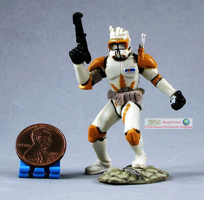 Hasbro Star Wars 1:32 Toy Soldier Action Figure CLONE TROOPER COMMANDER CODY S66