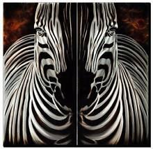 Zebra-Animal Metal Wall Art 2 Panels | Hand Made Warrnambool 3280 Warrnambool City Preview
