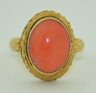 Vintage Chinese Sterling Silver gold Gilt Coral Poison Locket Ring
