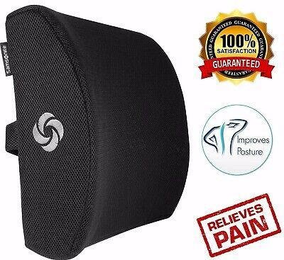 Office Chair Lumbar Support Pillow Memory Foam Car Cushion Lower Back Pain Seats ()