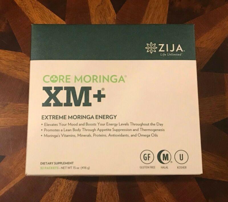 NEW ZIJA XM+ Core Moringa 32 sachets - 2021 Exp Date - FREE & Fast Shipping!